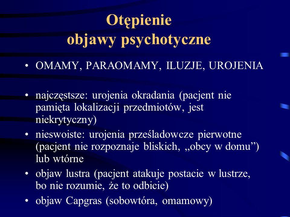 Otępienie objawy psychotyczne