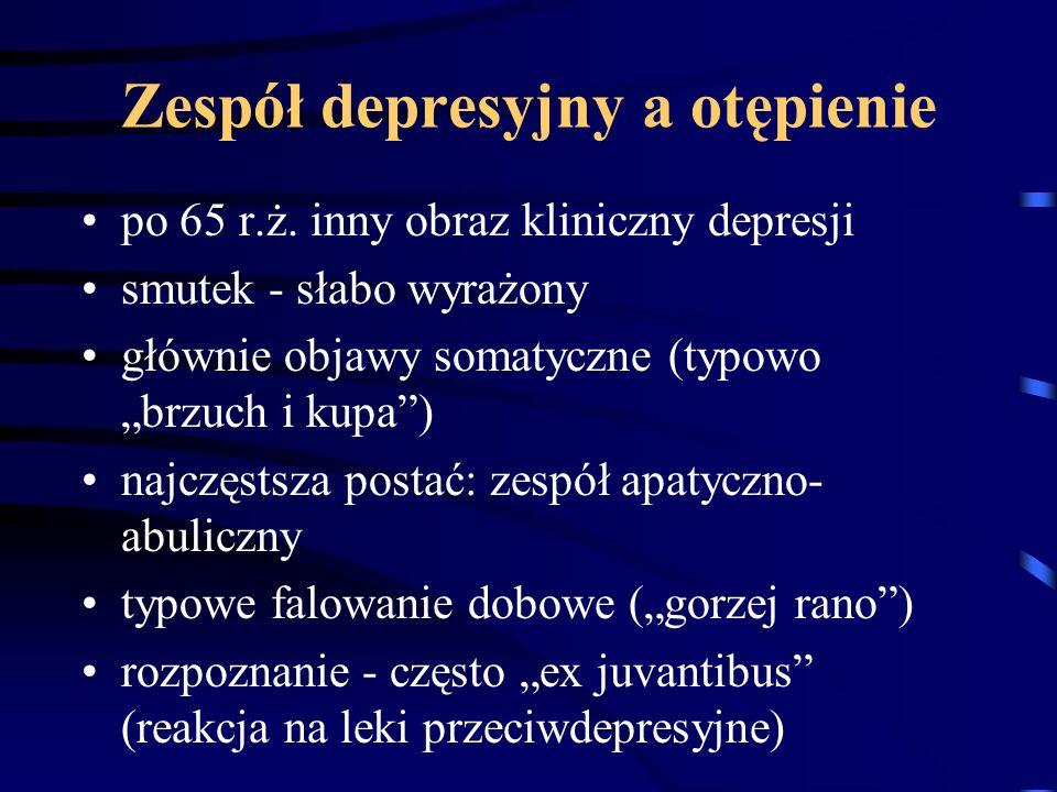 Zespół depresyjny a otępienie