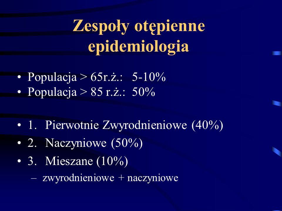 Zespoły otępienne epidemiologia
