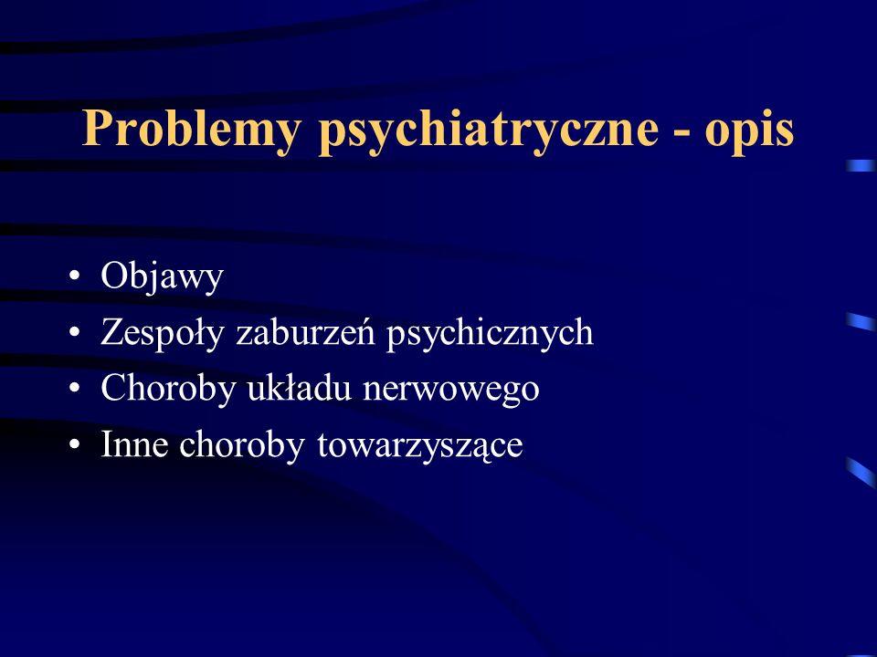 Problemy psychiatryczne - opis