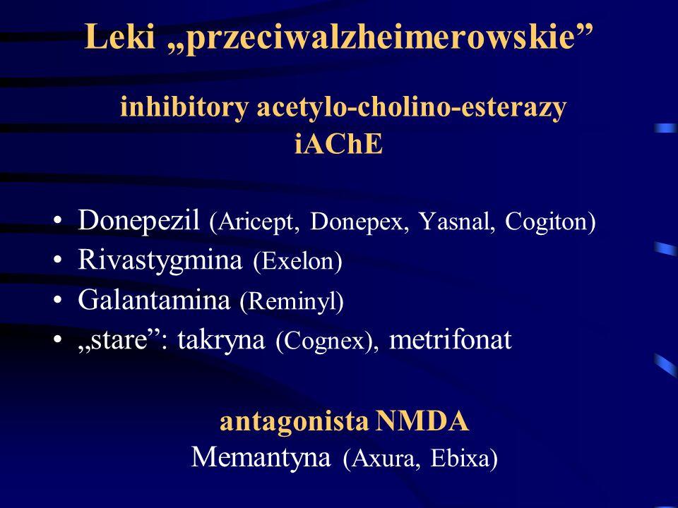 antagonista NMDA Memantyna (Axura, Ebixa)
