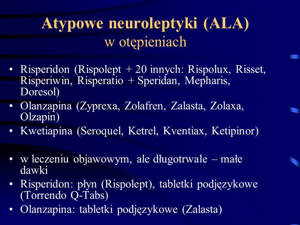 Atypowe neuroleptyki (ALA) w otępieniach