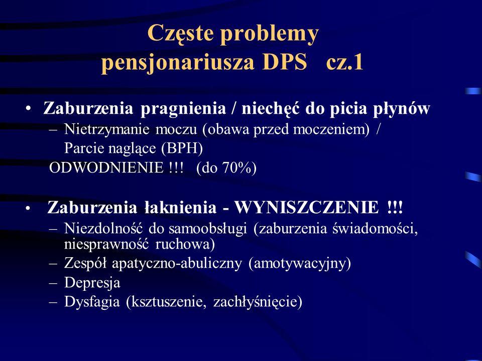 Częste problemy pensjonariusza DPS cz.1