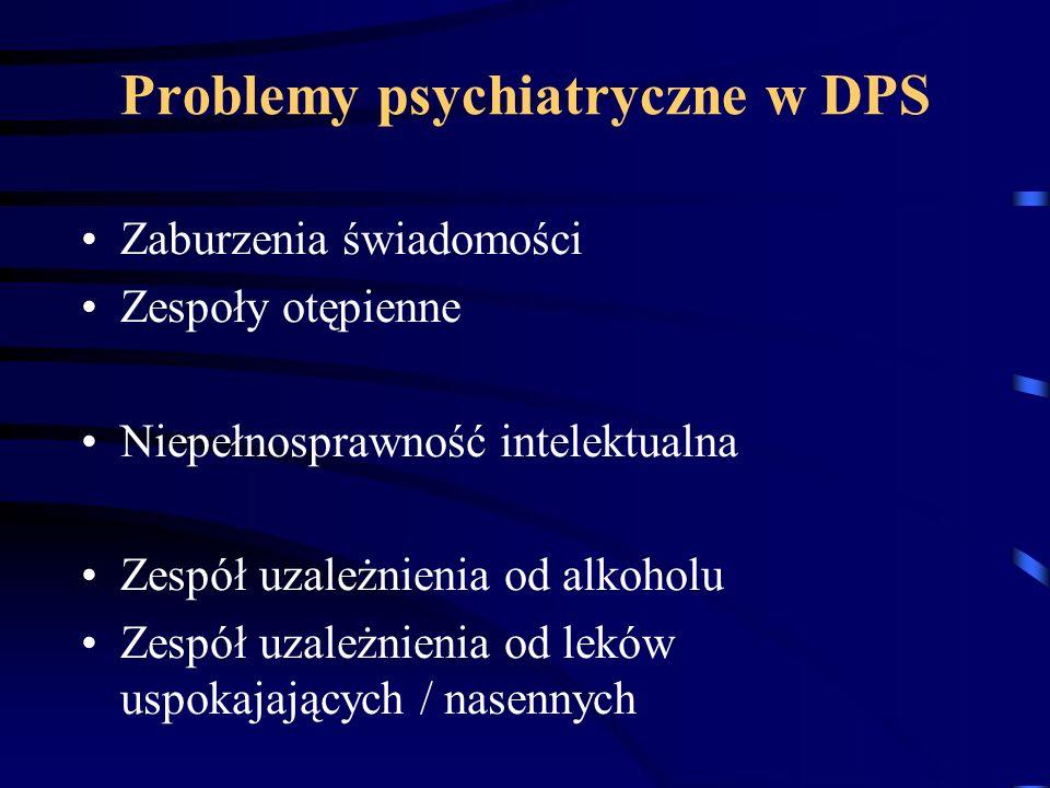 Problemy psychiatryczne w DPS