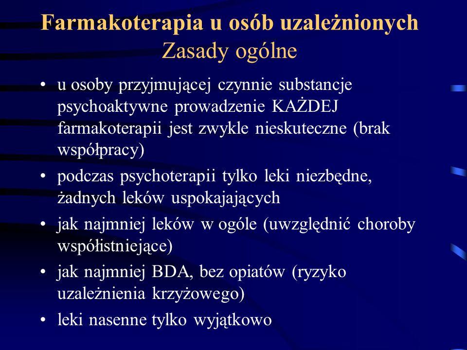 Farmakoterapia u osób uzależnionych Zasady ogólne