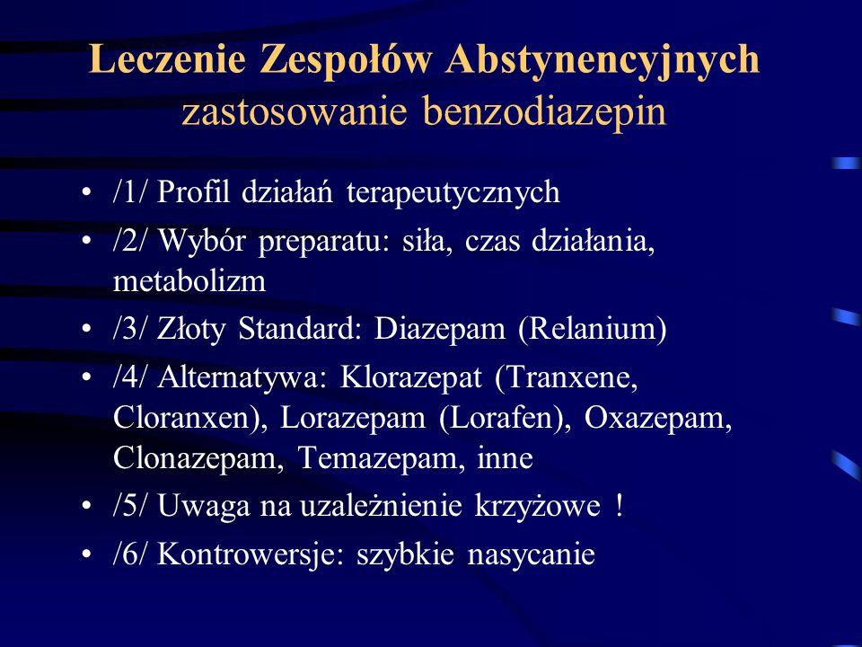 Leczenie Zespołów Abstynencyjnych zastosowanie benzodiazepin