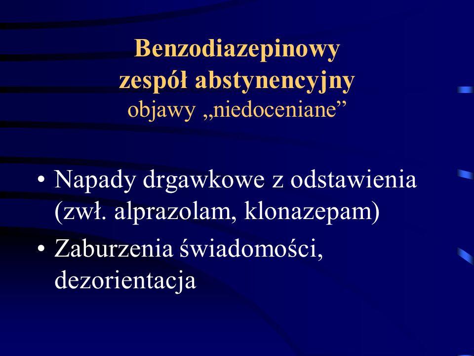 """Benzodiazepinowy zespół abstynencyjny objawy """"niedoceniane"""