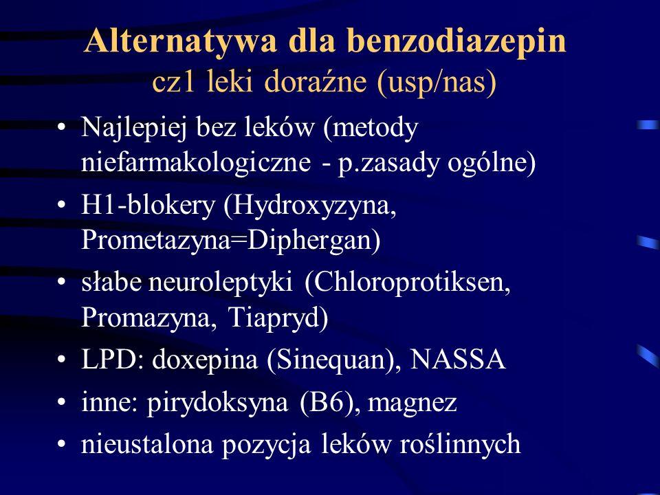 Alternatywa dla benzodiazepin cz1 leki doraźne (usp/nas)