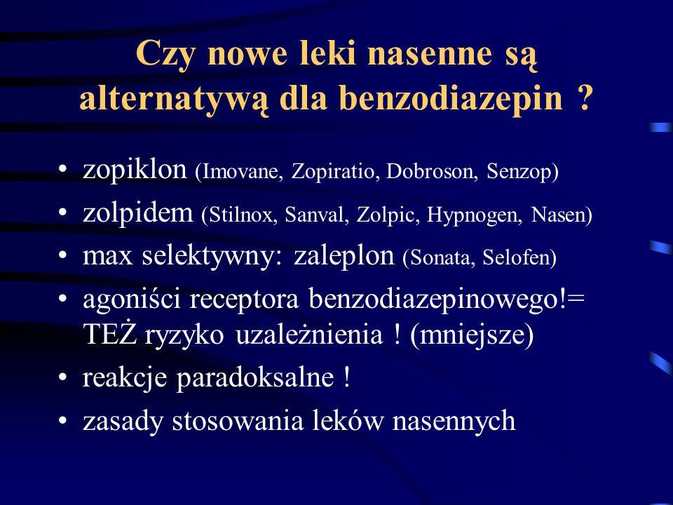 Czy nowe leki nasenne są alternatywą dla benzodiazepin
