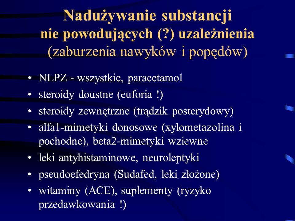 Nadużywanie substancji nie powodujących (