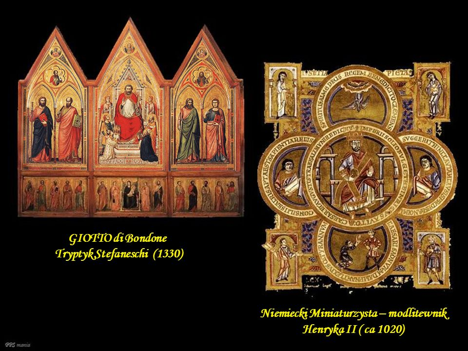 GIOTTO di Bondone Tryptyk Stefaneschi (1330)