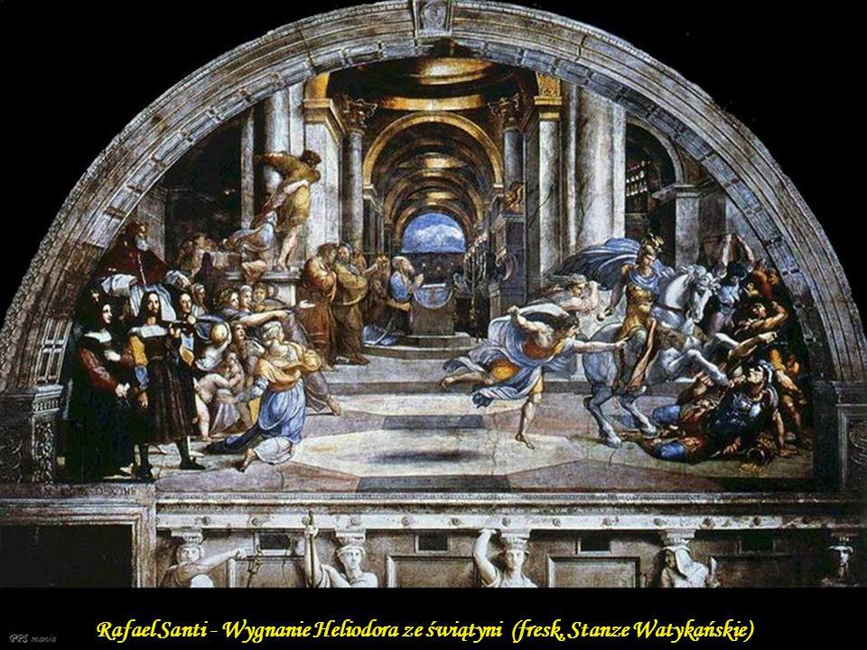 Rafael Santi - Uwolnienie św. Piotra (fresk, Stanze Watykańskie)