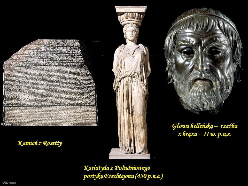 Głowa helleńska – rzeźba z brązu - II w. p.n,e.