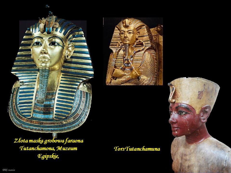 Złota maska grobowa faraona Tutanchamona, Muzeum Egipskie,
