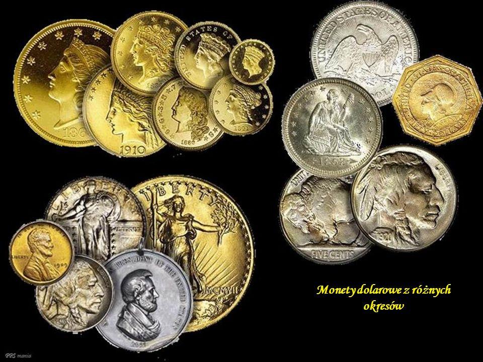 Monety dolarowe z różnych okresów