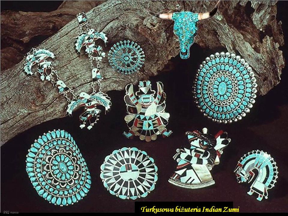 Turkusowa biżuteria Indian Zumi