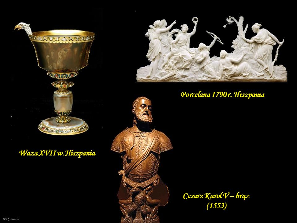 Porcelana 1790 r. Hiszpania Waza XVII w.Hiszpania