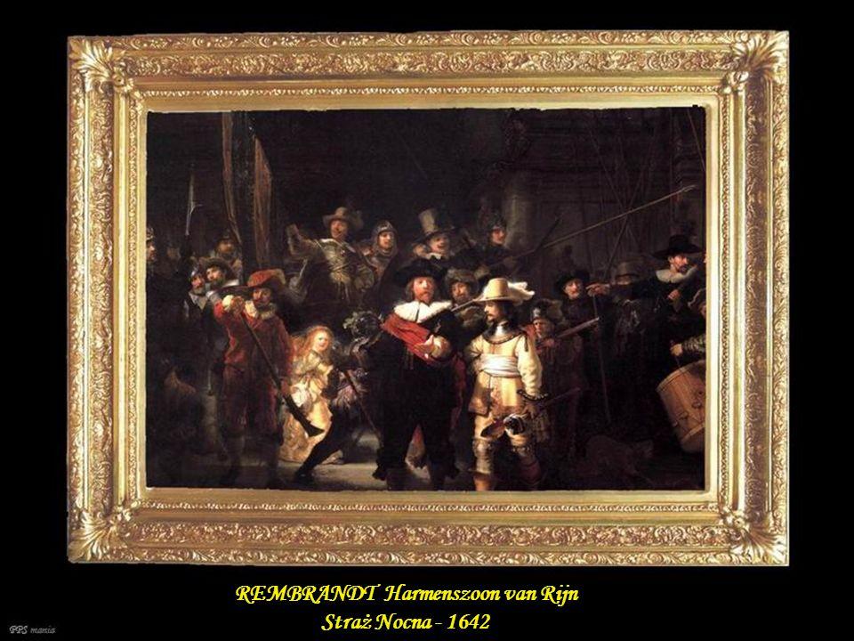 REMBRANDT Harmenszoon van Rijn Straż Nocna - 1642