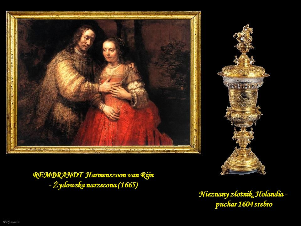 REMBRANDT Harmenszoon van Rijn - Żydowska narzecona (1665)