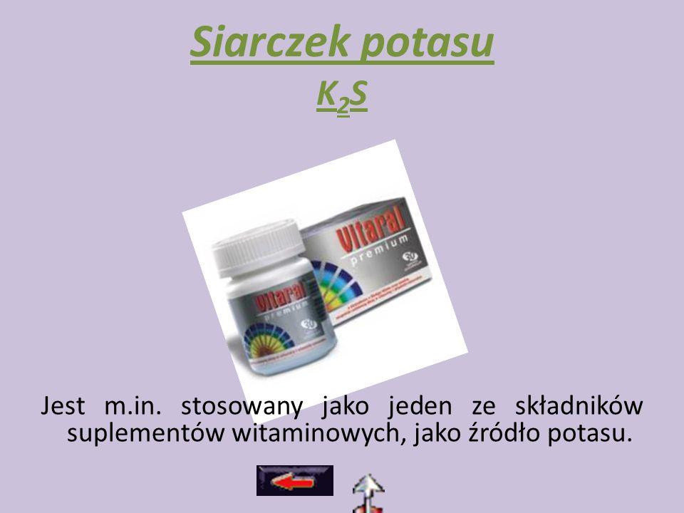 Siarczek potasu K2S Jest m.in.