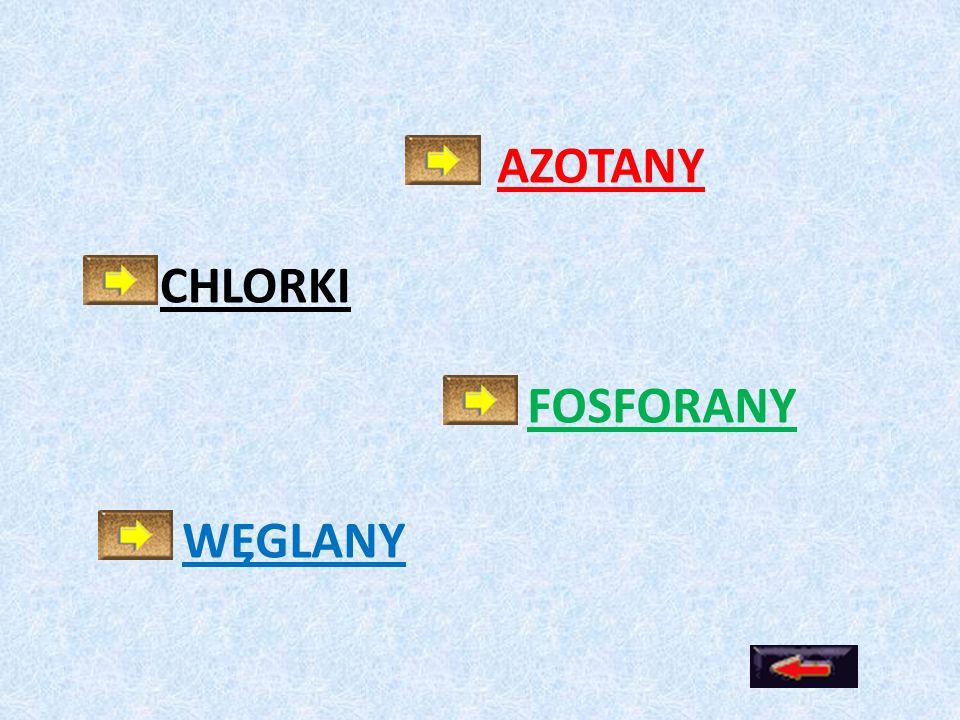 AZOTANY CHLORKI FOSFORANY WĘGLANY