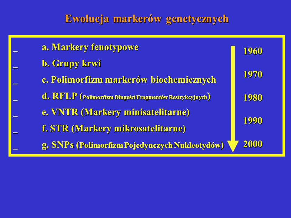 Ewolucja markerów genetycznych