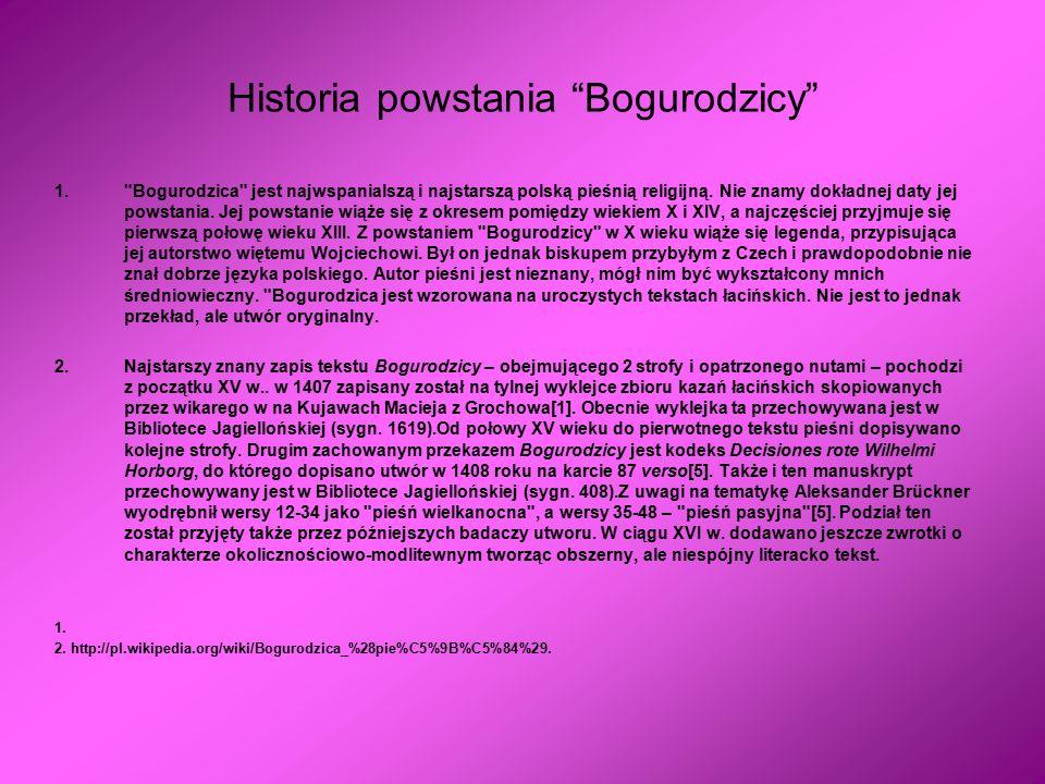 Historia powstania Bogurodzicy