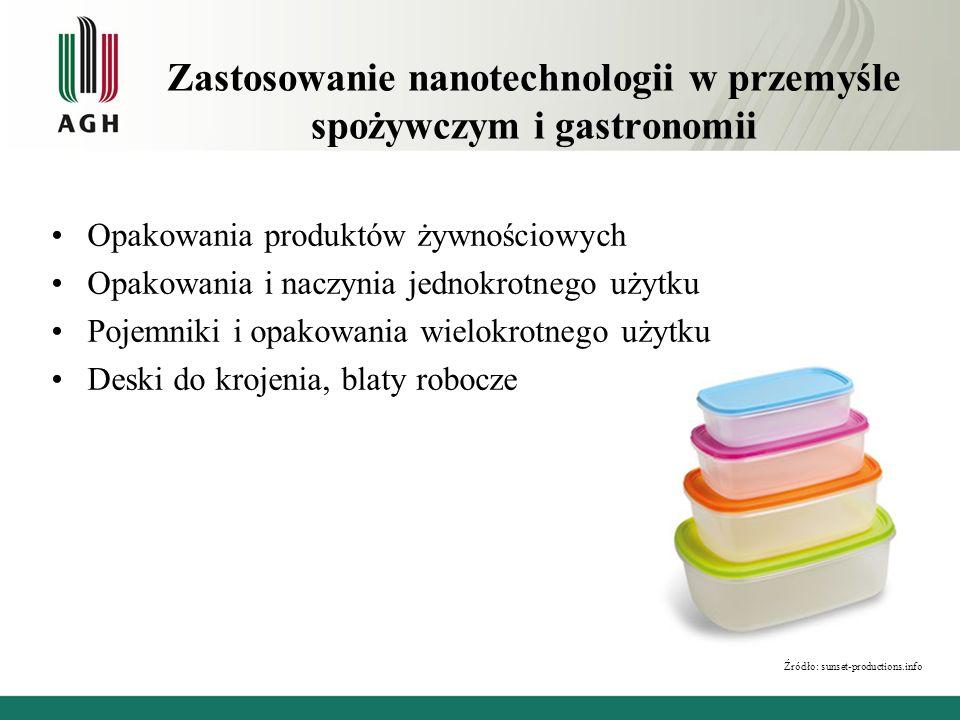 Zastosowanie nanotechnologii w przemyśle spożywczym i gastronomii