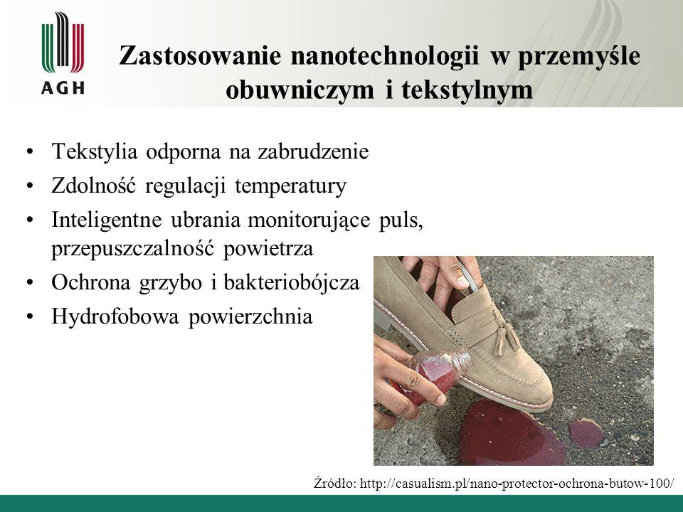 Zastosowanie nanotechnologii w przemyśle obuwniczym i tekstylnym