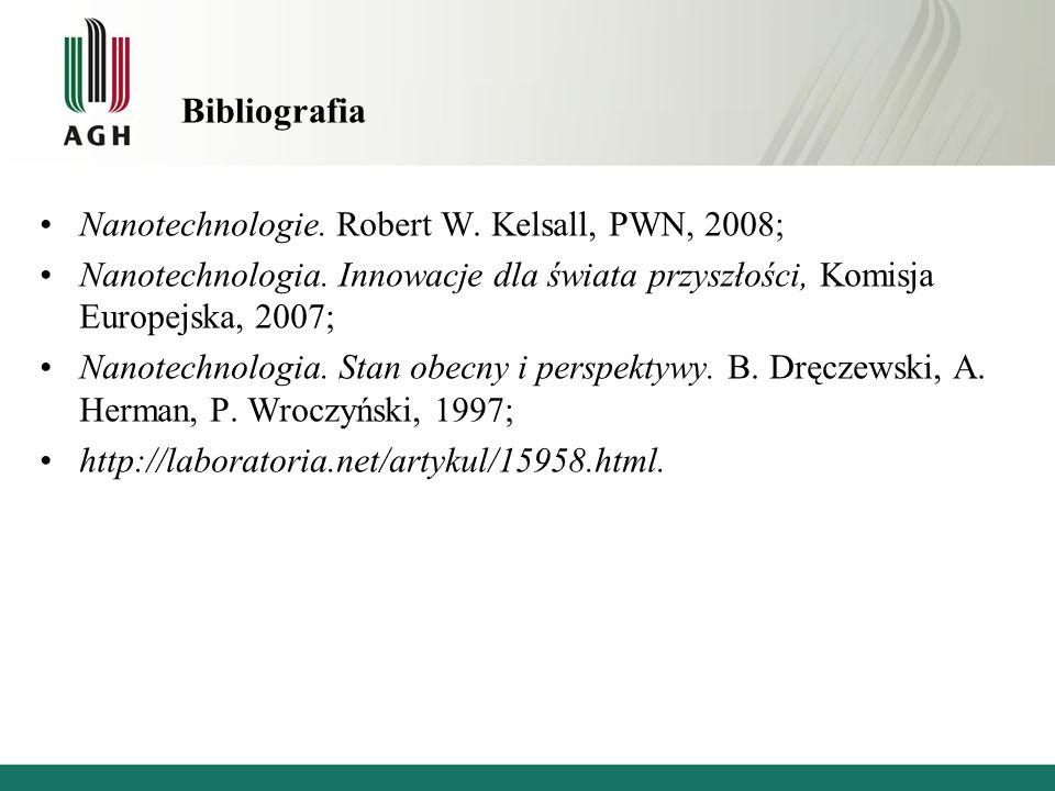 Bibliografia Nanotechnologie. Robert W. Kelsall, PWN, 2008;