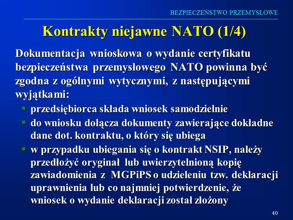 Kontrakty niejawne NATO (1/4)