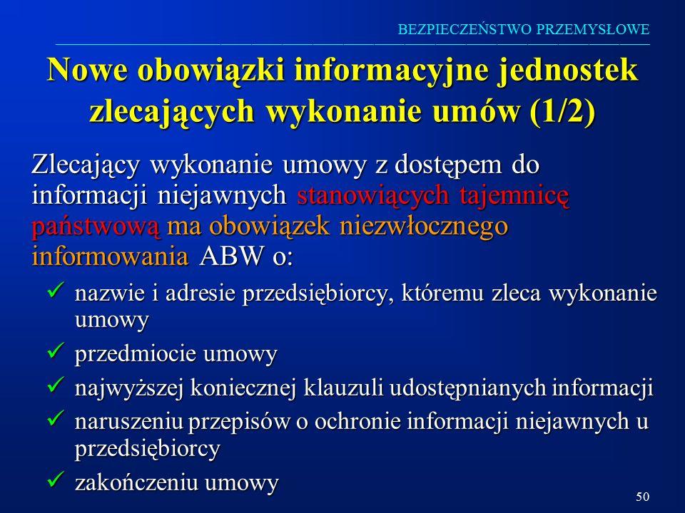 Nowe obowiązki informacyjne jednostek zlecających wykonanie umów (1/2)