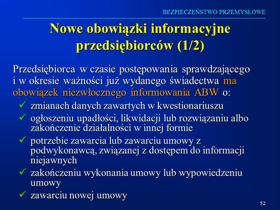 Nowe obowiązki informacyjne przedsiębiorców (1/2)
