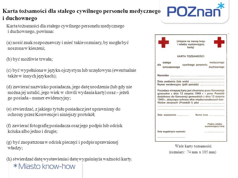 Karta tożsamości dla stałego cywilnego personelu medycznego i duchownego