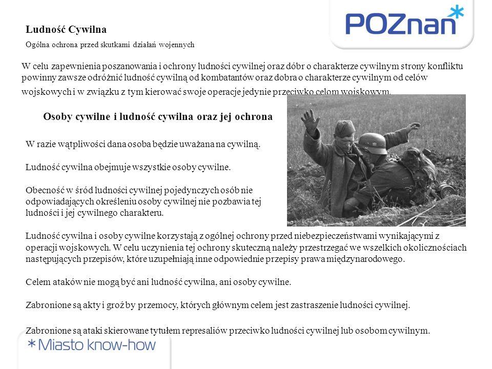 Osoby cywilne i ludność cywilna oraz jej ochrona