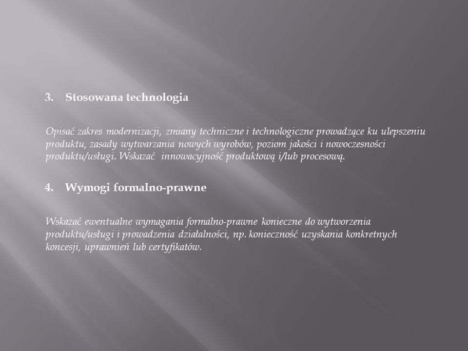 3. Stosowana technologia