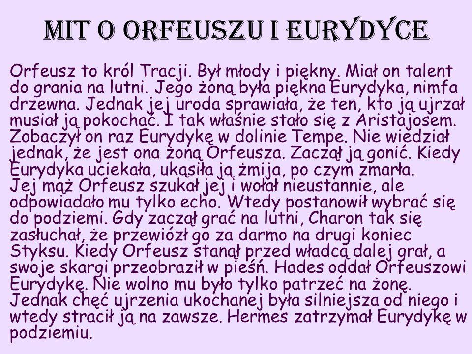 Mit o orfeuszu i eurydyce