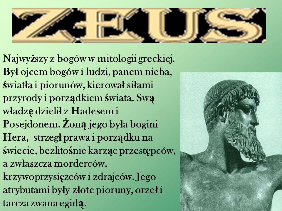 Najwyższy z bogów w mitologii greckiej