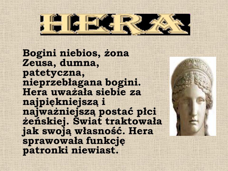 Bogini niebios, żona Zeusa, dumna, patetyczna, nieprzebłagana bogini