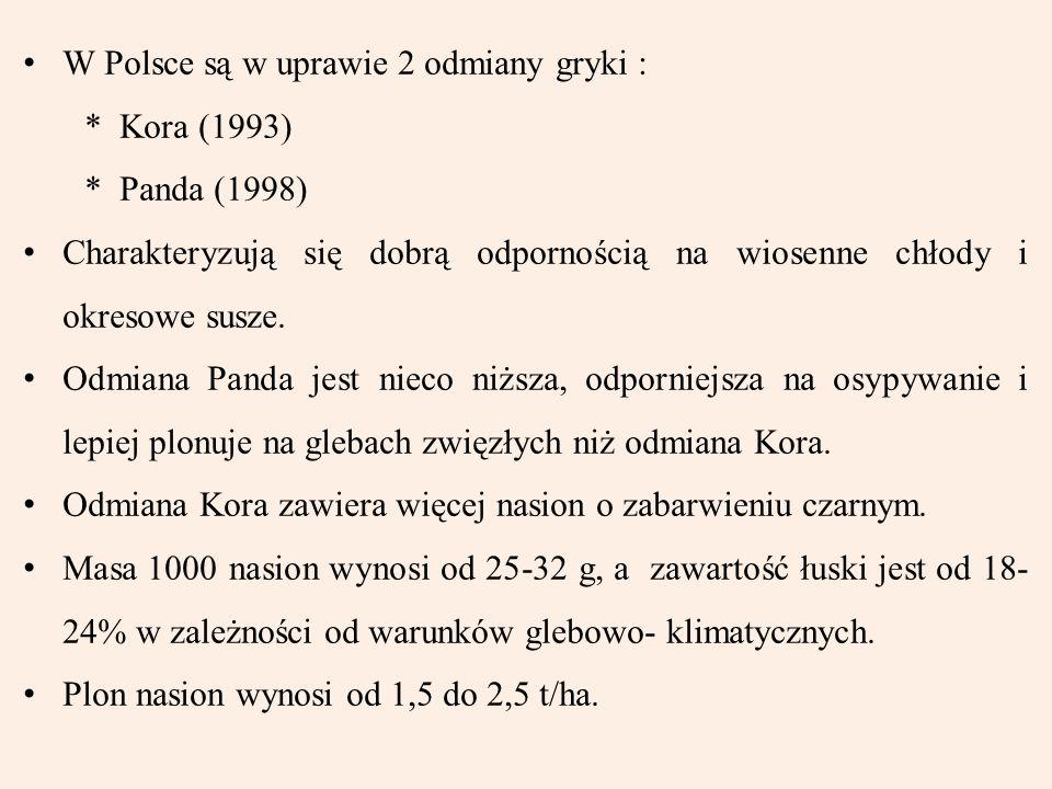 W Polsce są w uprawie 2 odmiany gryki :