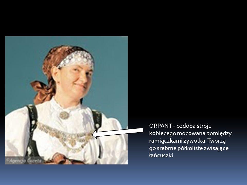 ORPANT - ozdoba stroju kobiecego mocowana pomiędzy ramiączkami żywotka