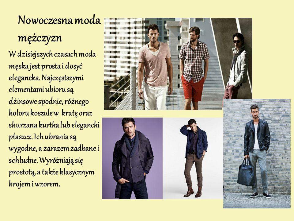 Nowoczesna moda mężczyzn