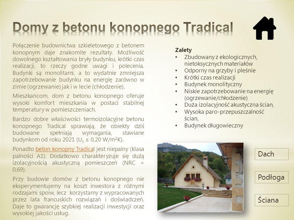 Domy z betonu konopnego Tradical