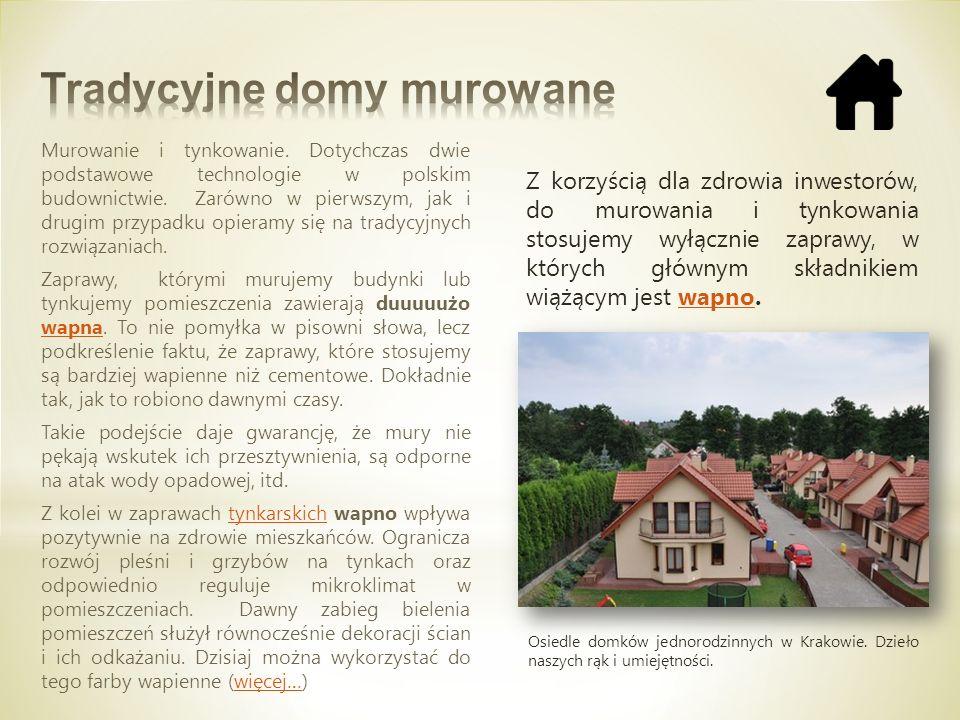 Tradycyjne domy murowane