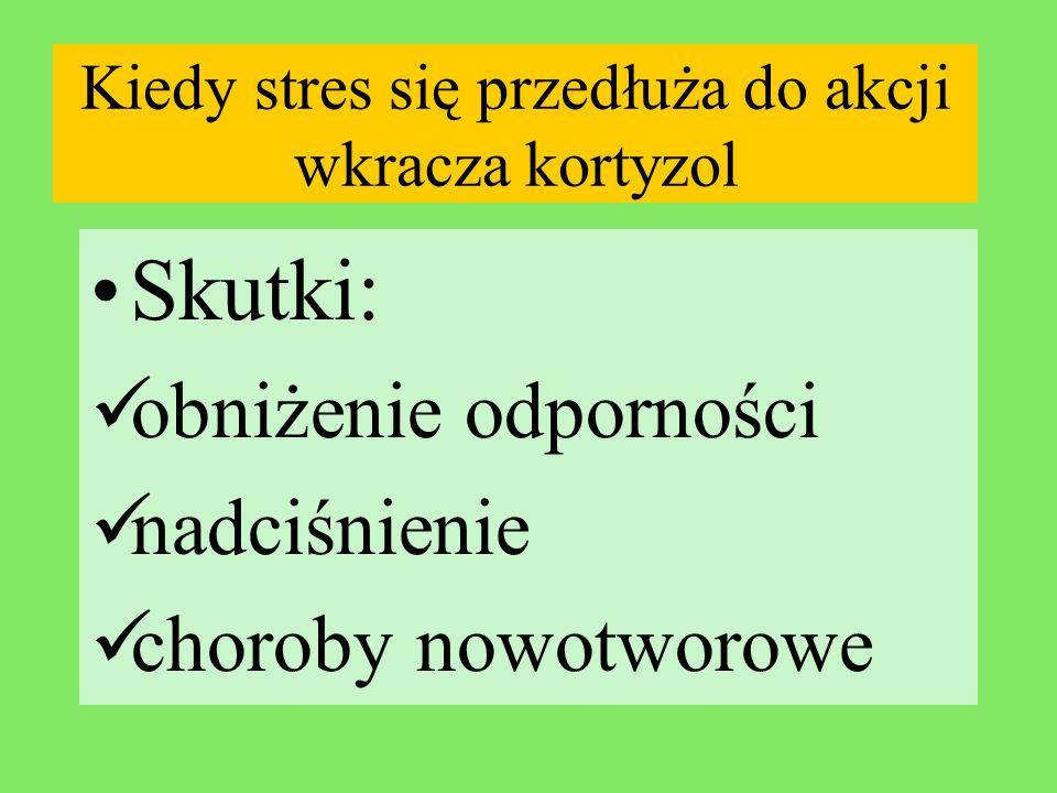 Kiedy stres się przedłuża do akcji wkracza kortyzol