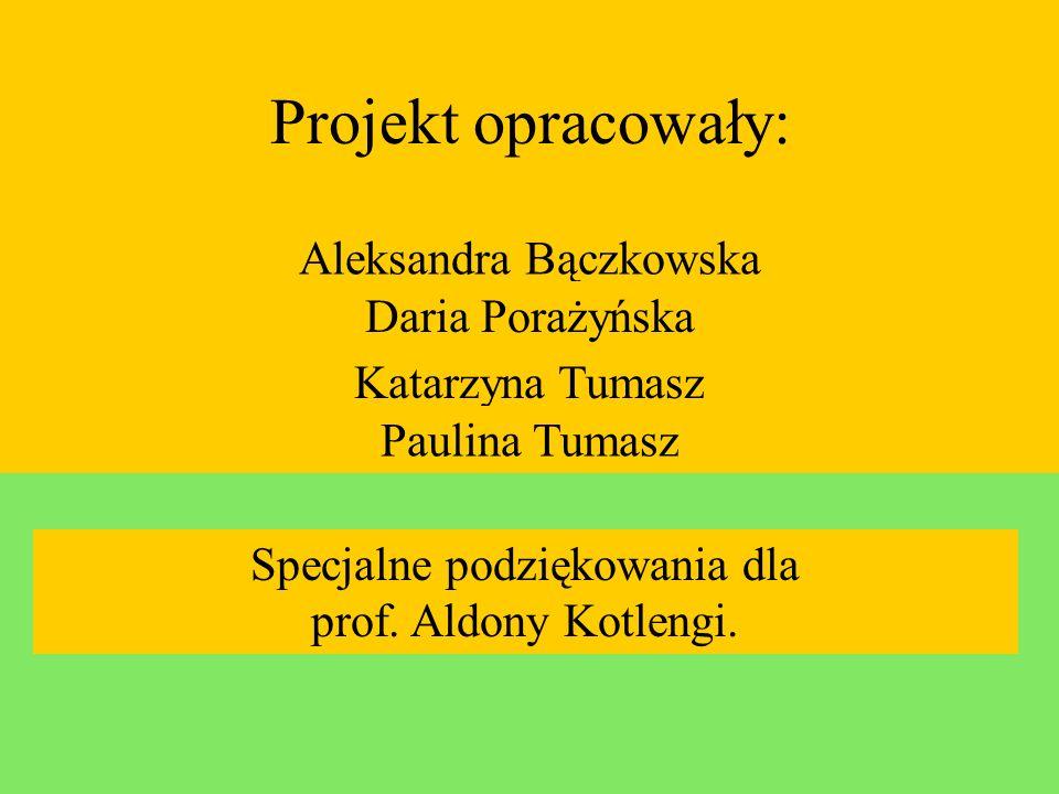 Projekt opracowały: Aleksandra Bączkowska Daria Porażyńska