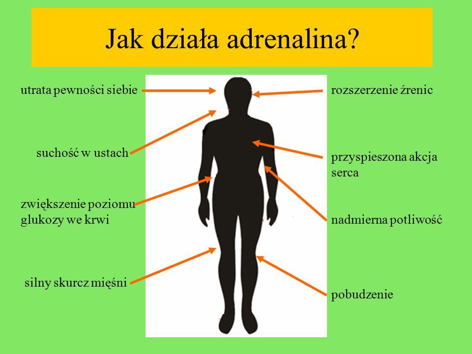 Jak działa adrenalina utrata pewności siebie rozszerzenie źrenic