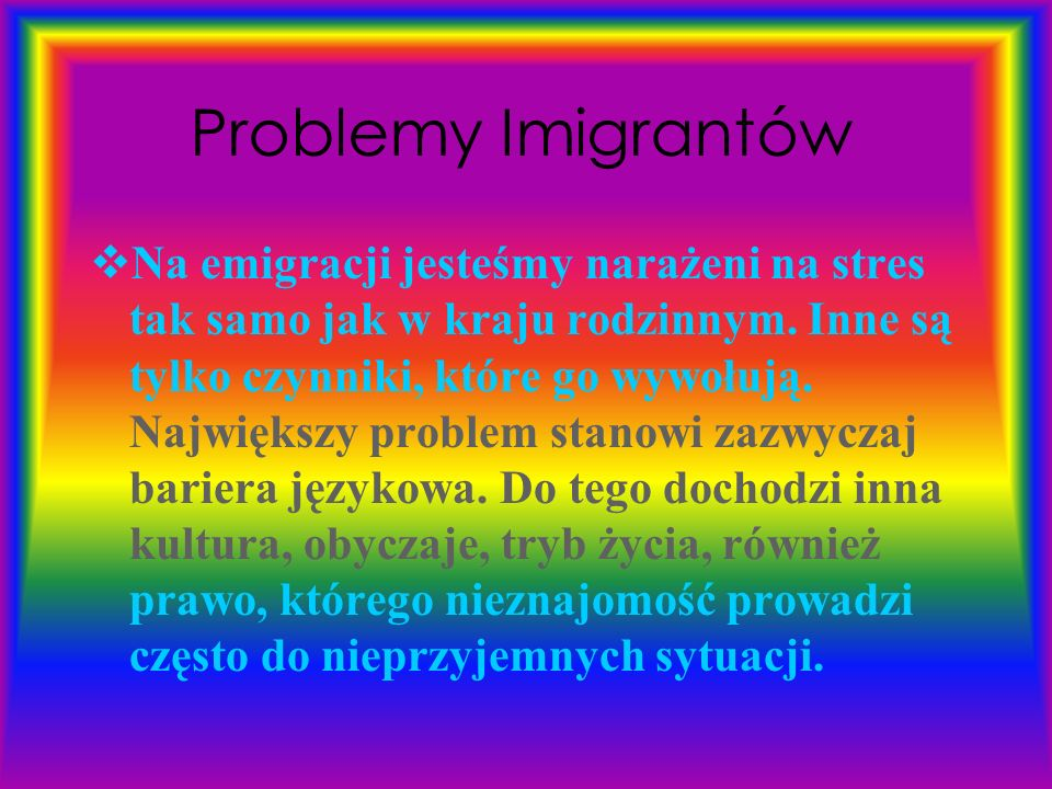 Problemy Imigrantów