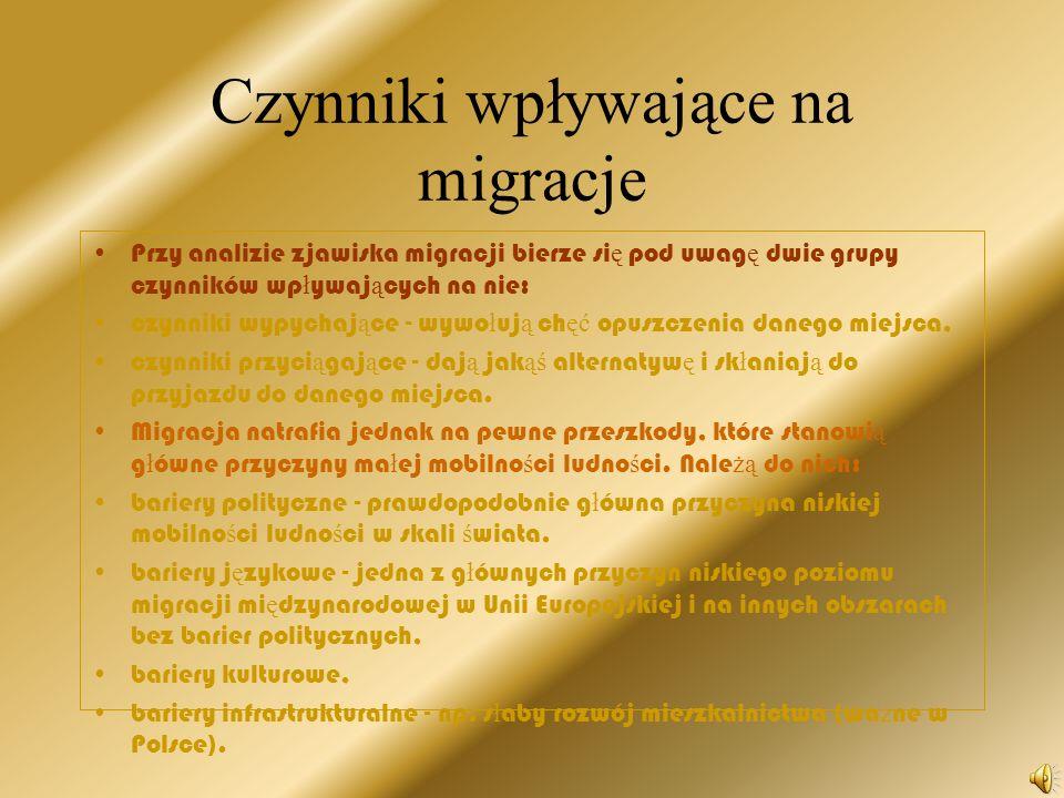 Czynniki wpływające na migracje