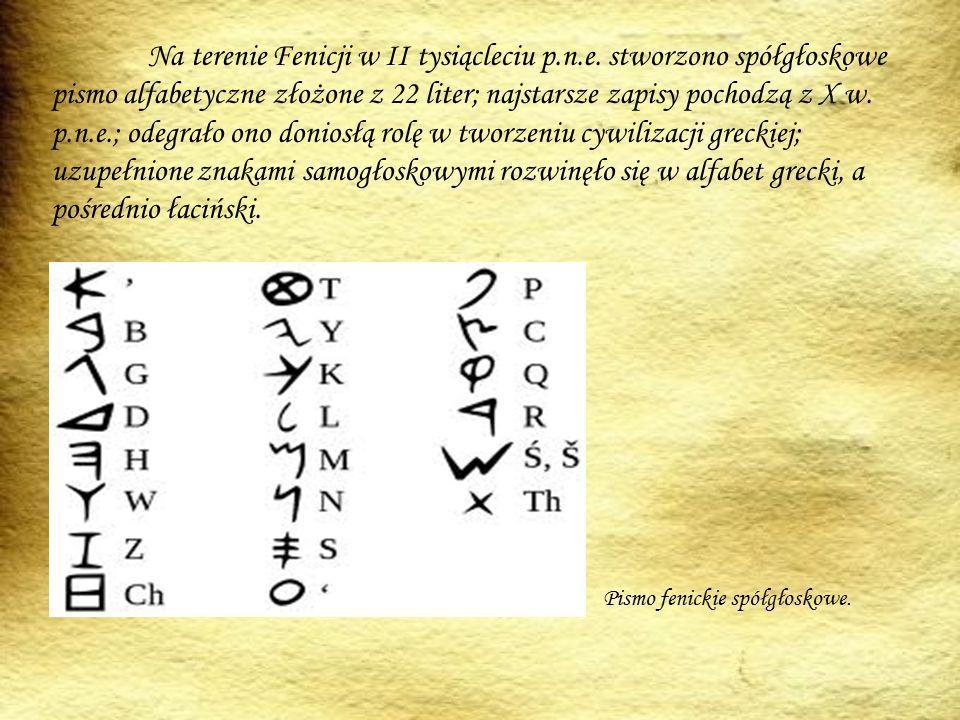 Na terenie Fenicji w II tysiącleciu p. n. e